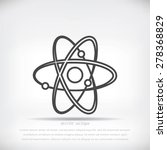 atom sign vector icon | Shutterstock .eps vector #278368829