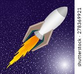 vector illustration. rocket. | Shutterstock .eps vector #278369921