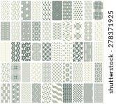 50 geometric seamless pattern... | Shutterstock .eps vector #278371925