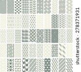 50 geometric seamless pattern... | Shutterstock .eps vector #278371931