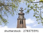 Tower Of Westerkerk In Dutch...