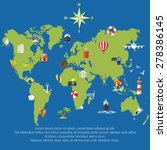 vector flat concept of world... | Shutterstock .eps vector #278386145