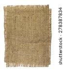 natural burlap texture on a... | Shutterstock . vector #278387834