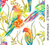 parrot seamless pattern.... | Shutterstock .eps vector #278388329