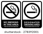 no smoking and smoking area | Shutterstock .eps vector #278392001