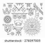 set of linear graphical flags ... | Shutterstock .eps vector #278397005