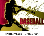 Baseball batter poster. Vector illustration. - stock vector