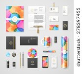trendy watercolor corporate...   Shutterstock .eps vector #278397455