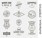 barbershop badges logos and... | Shutterstock .eps vector #278399141