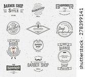 barbershop badges logos and... | Shutterstock .eps vector #278399141