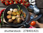 roasted potatoes and vegetables | Shutterstock . vector #278401421