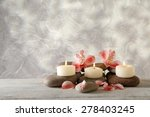 still life with spa candles on... | Shutterstock . vector #278403245