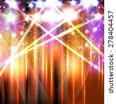 banner neon light stage...   Shutterstock .eps vector #278404457