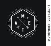 black and white hipster logo.... | Shutterstock .eps vector #278416145
