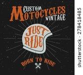vintage custom motocycles... | Shutterstock .eps vector #278418485