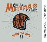 vintage custom motocycles... | Shutterstock .eps vector #278418491