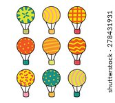 set of vector balloons. colored ... | Shutterstock .eps vector #278431931