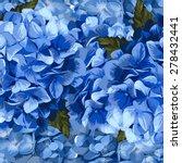 vector blue realistic hydrangea ... | Shutterstock .eps vector #278432441