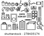 coffee time vector icons set ... | Shutterstock .eps vector #278435174