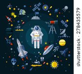 space icons composition | Shutterstock .eps vector #278435579