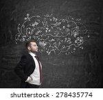 confident handsome businessman... | Shutterstock . vector #278435774