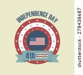 vintage independence day icon... | Shutterstock .eps vector #278438687