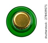 Green Beer Bottle  Top View