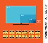 illustration of 8k screen.... | Shutterstock .eps vector #278439419