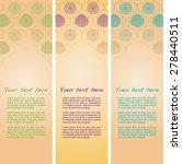 set of vertical vintage...   Shutterstock .eps vector #278440511