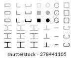 steel icons set on white... | Shutterstock .eps vector #278441105