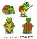set of four cartoon turtles | Shutterstock .eps vector #278445875