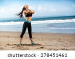 running woman  female runner... | Shutterstock . vector #278451461
