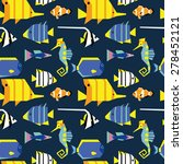 seamless pattern with cute... | Shutterstock .eps vector #278452121