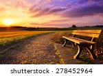 Colorful Sunset Scenery In...