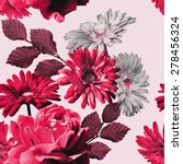 Art Monochrome Vintage Floral...