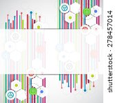 color lines technology abstract ... | Shutterstock .eps vector #278457014