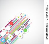 color lines technology abstract ... | Shutterstock .eps vector #278457017