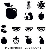 fruit icons | Shutterstock .eps vector #278457941
