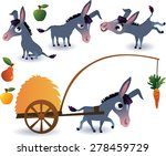 farm animals set  donkey | Shutterstock .eps vector #278459729