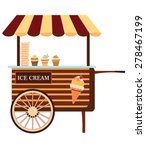 colorful ice cream cart vector...   Shutterstock .eps vector #278467199