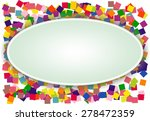 colourful squares background | Shutterstock . vector #278472359