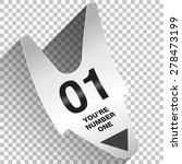 you are number one ticket...   Shutterstock .eps vector #278473199