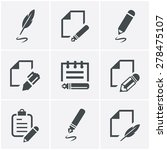 writing icons | Shutterstock .eps vector #278475107