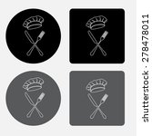 fork and knife   illustration...   Shutterstock .eps vector #278478011