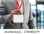 businessman at an exhibition or ...   Shutterstock . vector #278480279