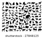 animals silhouettes isolated on ... | Shutterstock .eps vector #27848125