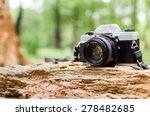 Film Camera In Natural Outdoor...