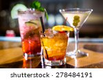 colorful cocktails on the bar... | Shutterstock . vector #278484191