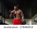 muscular mature man doing heavy ... | Shutterstock . vector #278485019