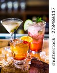 colorful cocktails on the bar... | Shutterstock . vector #278486117